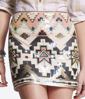 Express Sequin Embellished Mini Skirt | $59.90