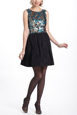 Paillette Flutter Mini Dress
