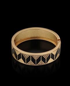 Adia Kibur Chevron Enamel Pave Bracelet | $29.50