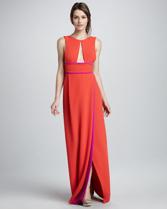 BCBG Two-Tone Cutout Evening Gown available at Neiman Marcus | $338