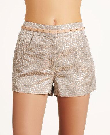 Dylan and Rose Metallic Jacquard Shorts | $39.99 (on sale from $56)