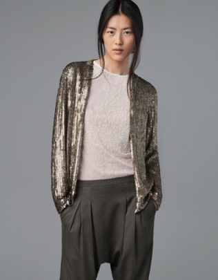 Zara Printed Sequined Cardigan | $69.99 (on sale from 189)
