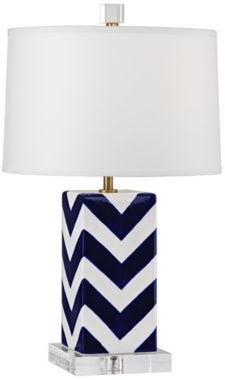 Robert Abbey Blue and White Stripes Lamp | $187.91