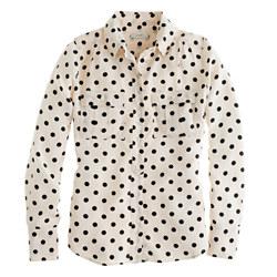 J. Crew Blythe Blouse in polka dot | $128
