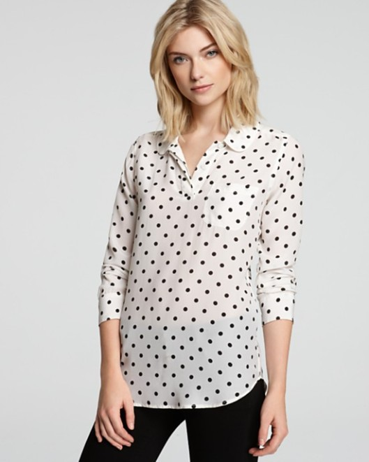 Equipment Adele Cherie Dot Blouse | $238