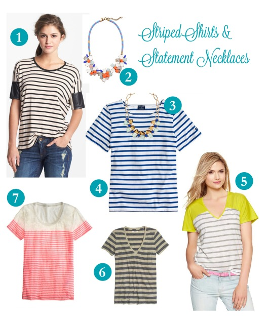StripedShirtsandStatementNecklaces