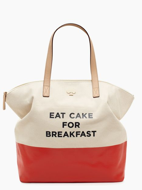 Eat Cake for Breakfast Tote $119 (Originally $248)